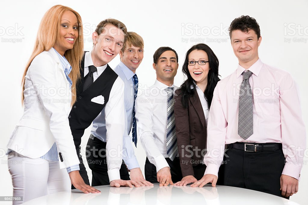 Sucessfull Young Business Team royalty-free stock photo