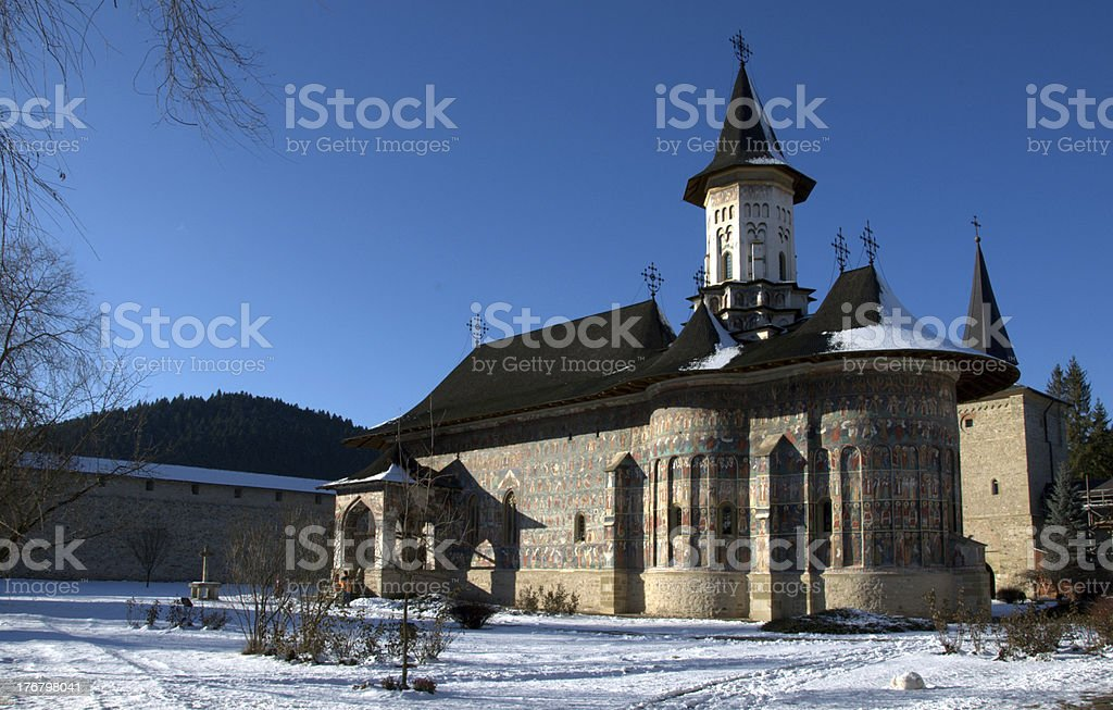 Sucevita Monastery royalty-free stock photo