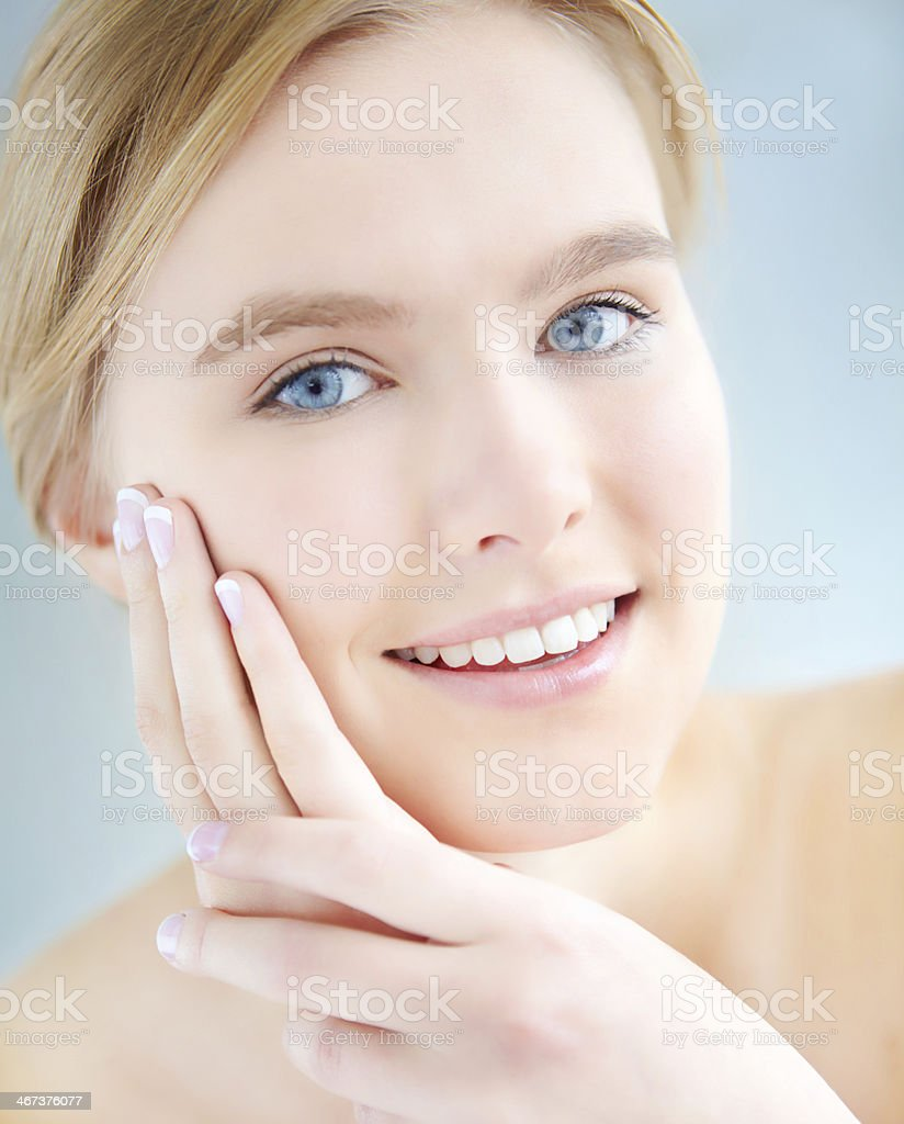 Such soft, smooth skin! royalty-free stock photo