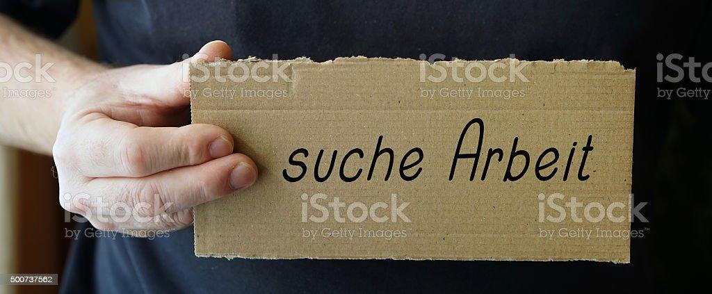 suche Arbeit stock photo