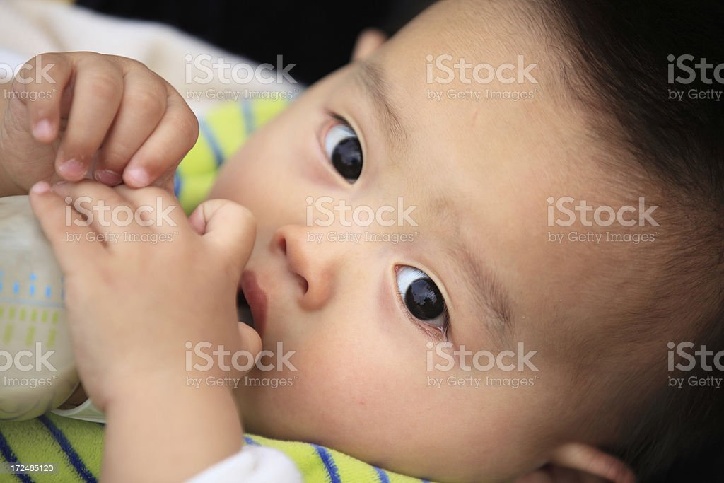 Sucking baby royalty-free stock photo