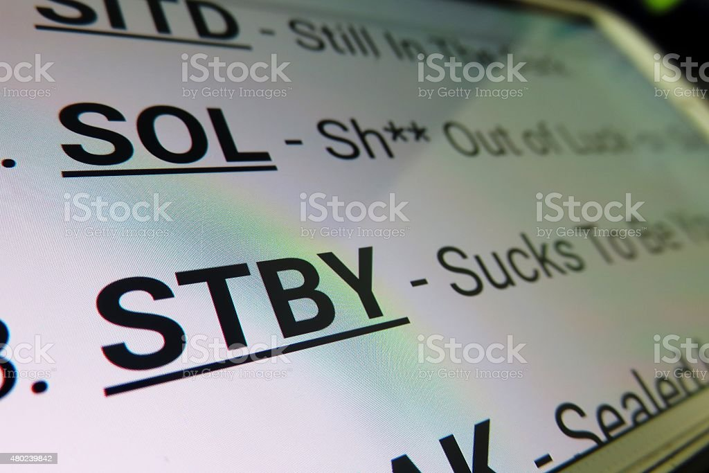 STBY - Sucks To Be You stock photo