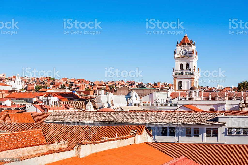 Sucre Cathedral stock photo