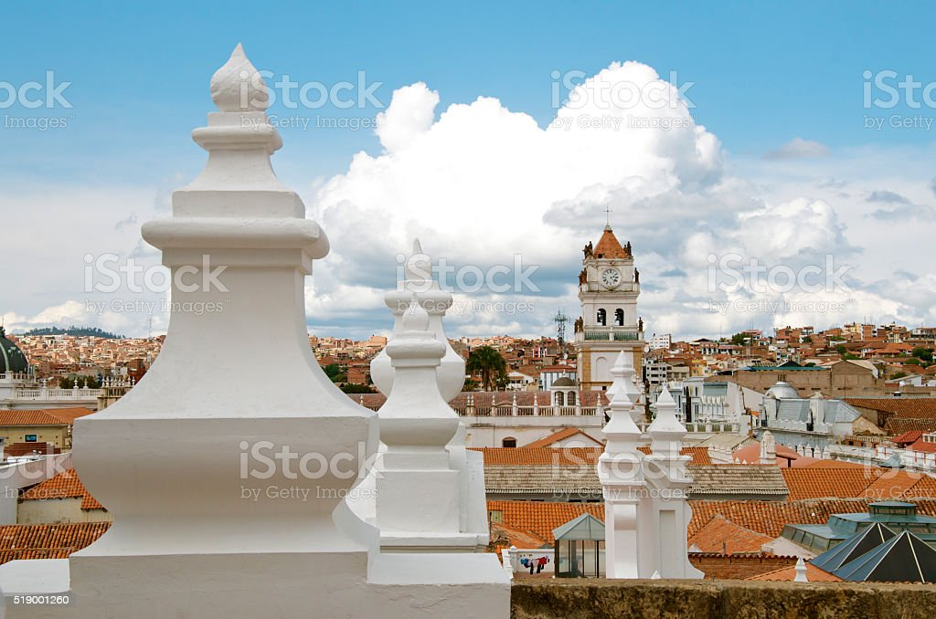 Sucre Viewed From Above stock photo