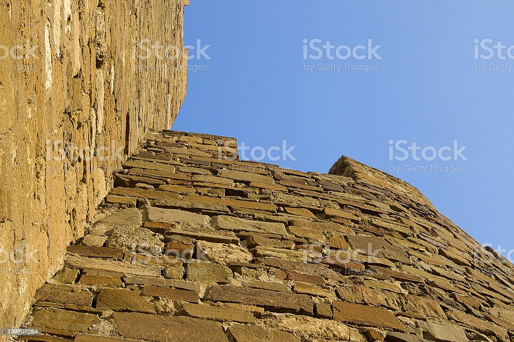 Sudak Genoa fortress wall stock photo
