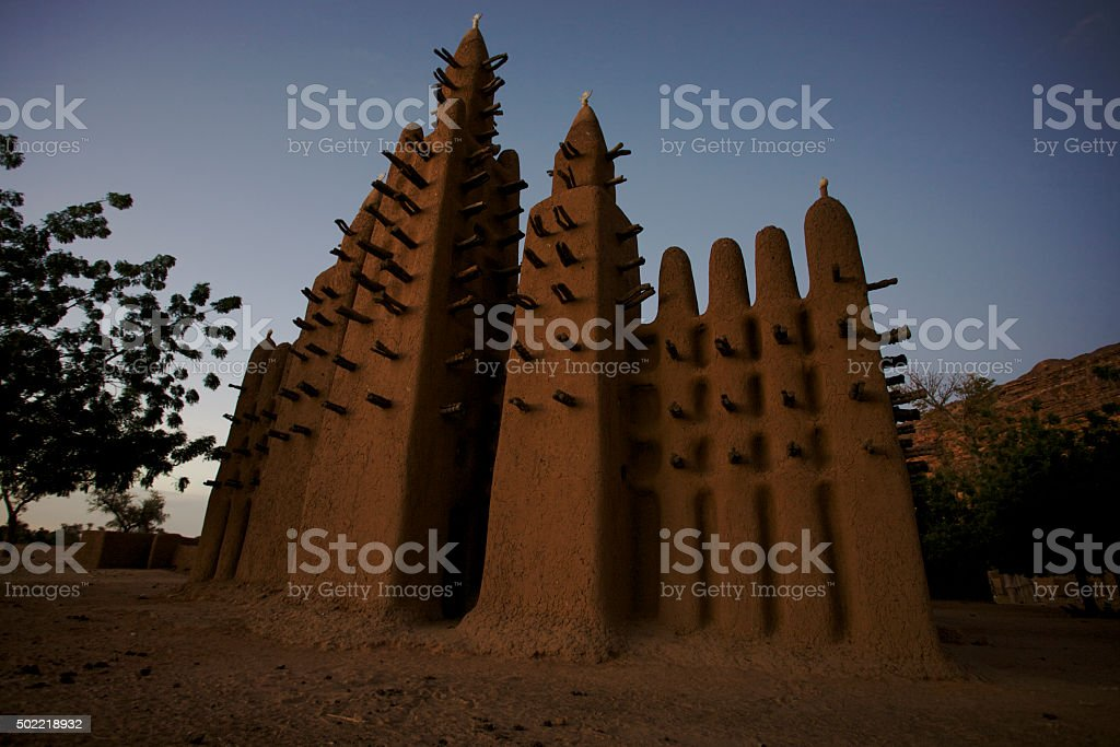 Sudan Architecture early in the morning stock photo