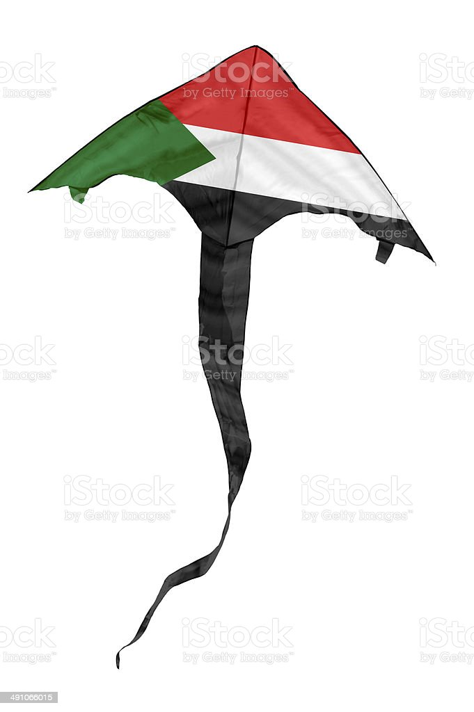 Sudan Flag Kite stock photo