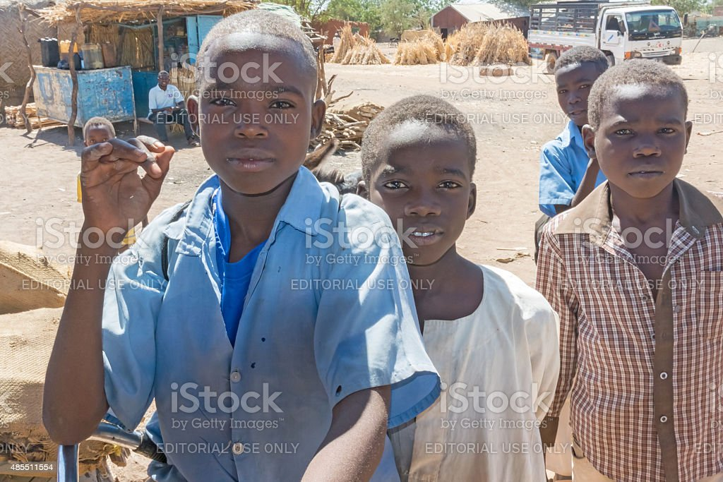 Sudanese boys stock photo