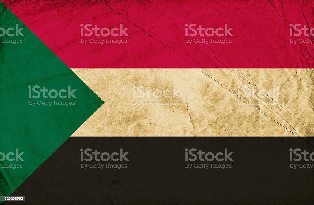 Sudanese grunge flag stock photo