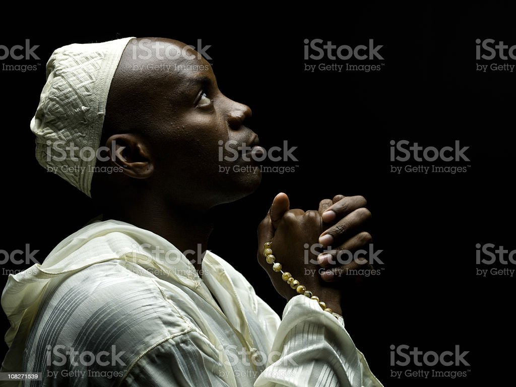 Sudanese Muslim Man stock photo