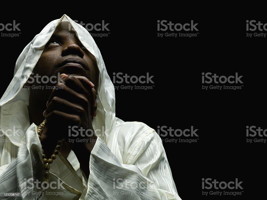 Sudanese Muslim Man Praying royalty-free stock photo