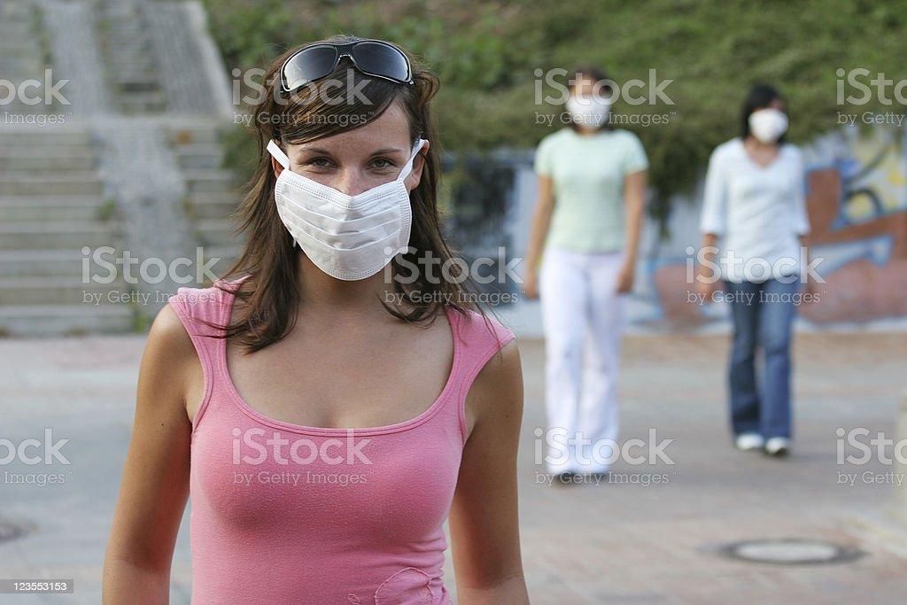 Sudden Acute Respiratory Syndrome - SARS royalty-free stock photo