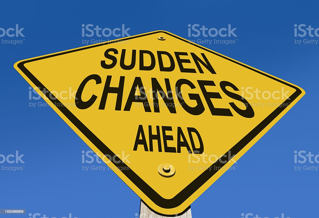 Sudden Changes Ahead Road Sign royalty-free stock photo