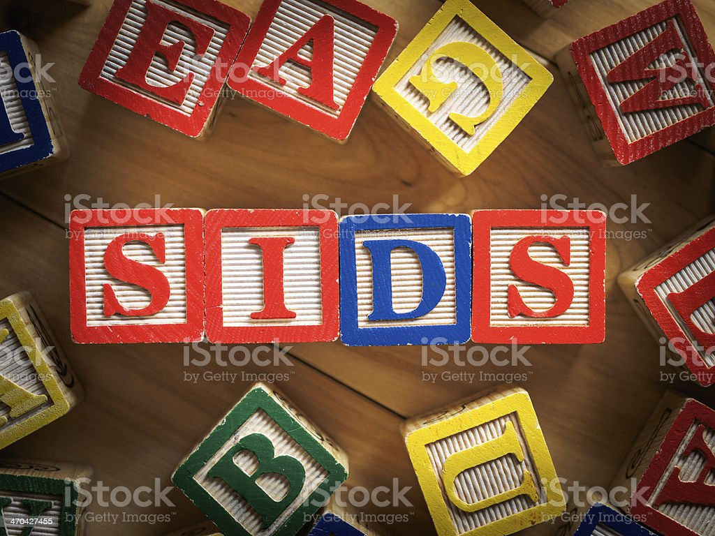 SIDS - Sudden infant death syndrome stock photo