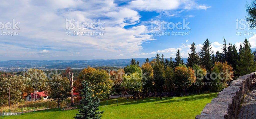Sudety mountain range stock photo