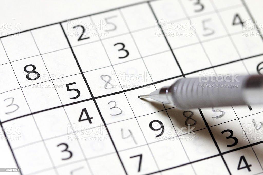 Sudoku Puzzle royalty-free stock photo