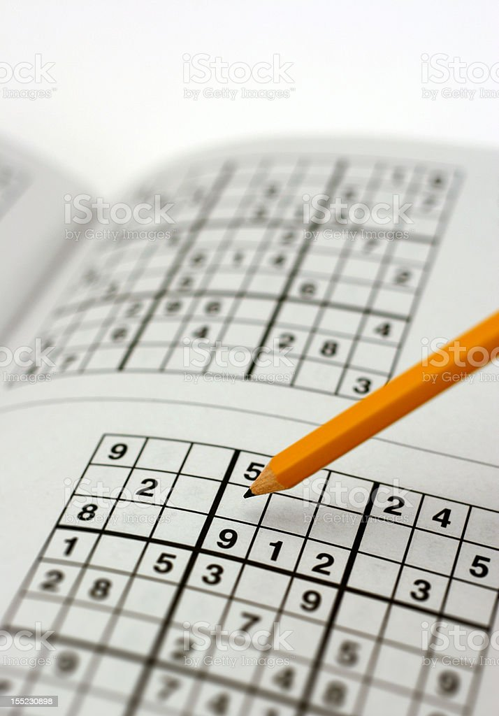 Sudoku Puzzle with Pencil royalty-free stock photo