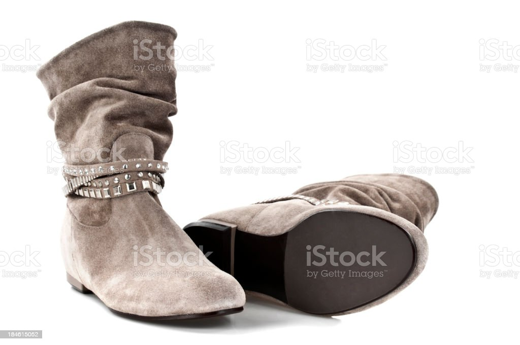 Suede Leather's Boots stock photo
