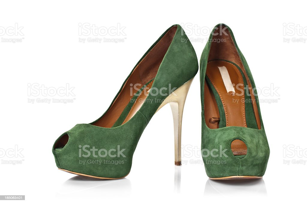 Suede Leather's Shoes royalty-free stock photo