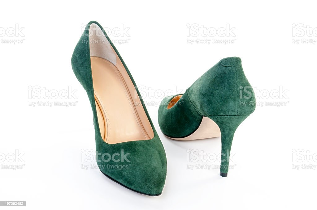 Suede leather's shoes stock photo