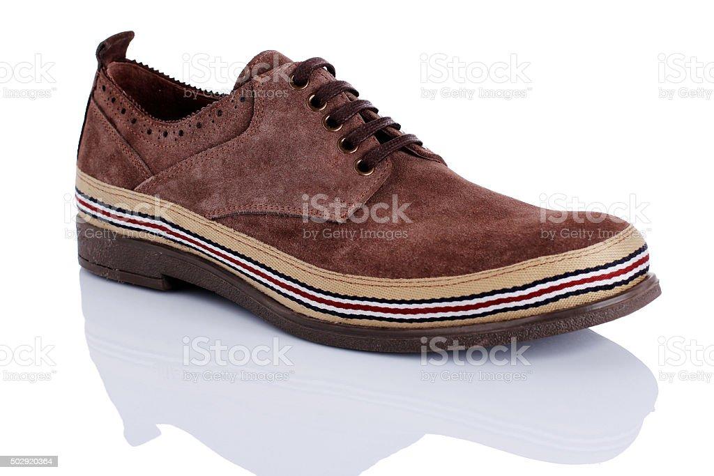 Suede men's shoe stock photo