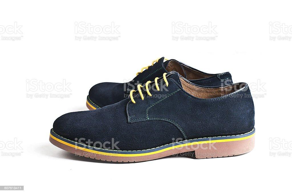 Suede men's shoes stock photo