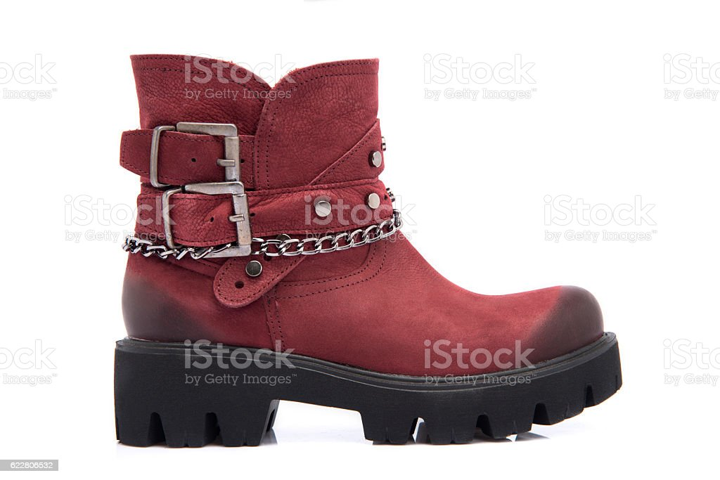Suede Woman Boot stock photo