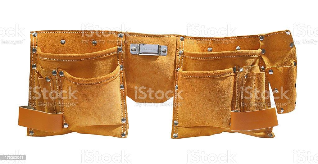 suede working belt stock photo