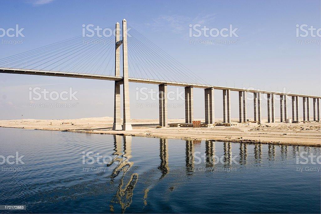 Suez Canal Bridge, Egypt stock photo