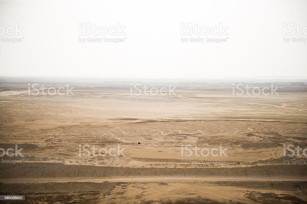 Suez canal landscape stock photo