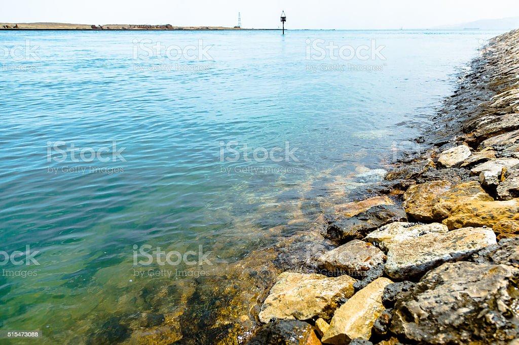 Suez Canal stock photo