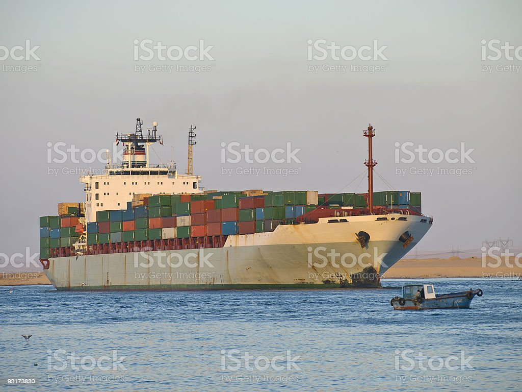 Suez Canal royalty-free stock photo