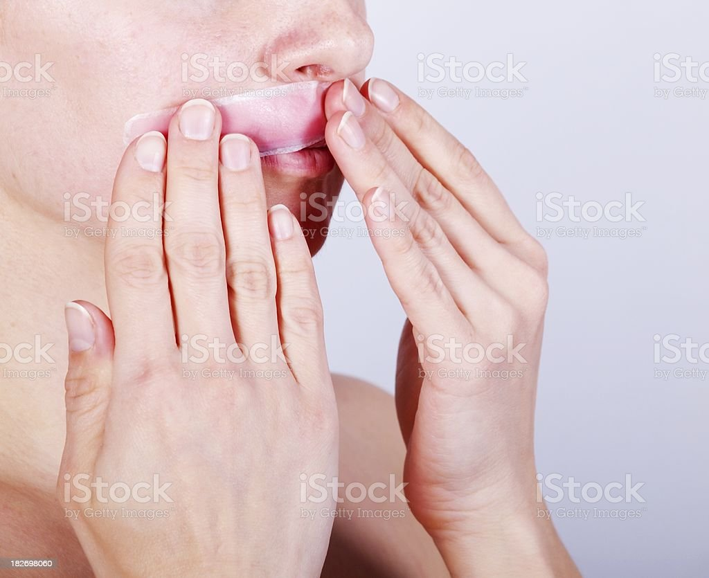 Suffer for beauty royalty-free stock photo