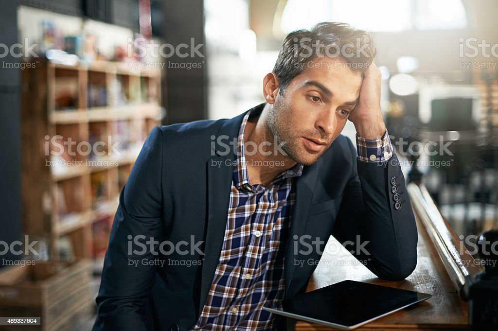 Suffering from depression stock photo