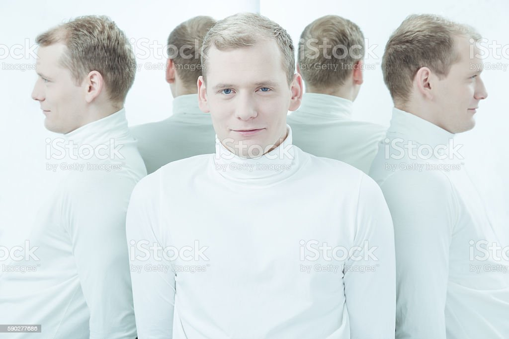 Suffering from mental illness every day stock photo