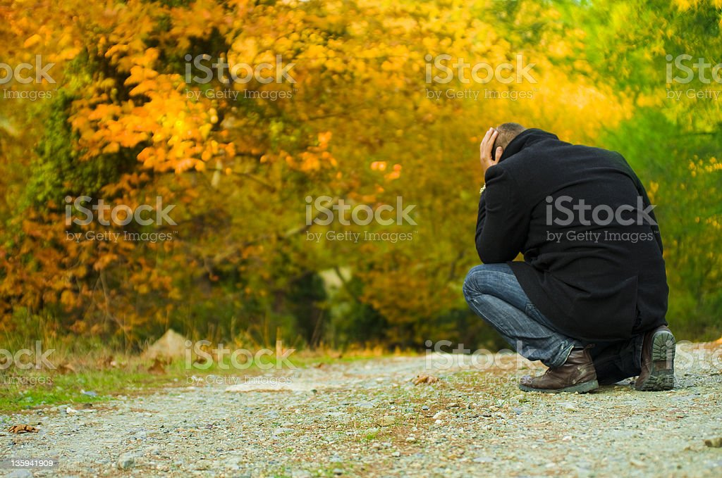 Suffering stock photo