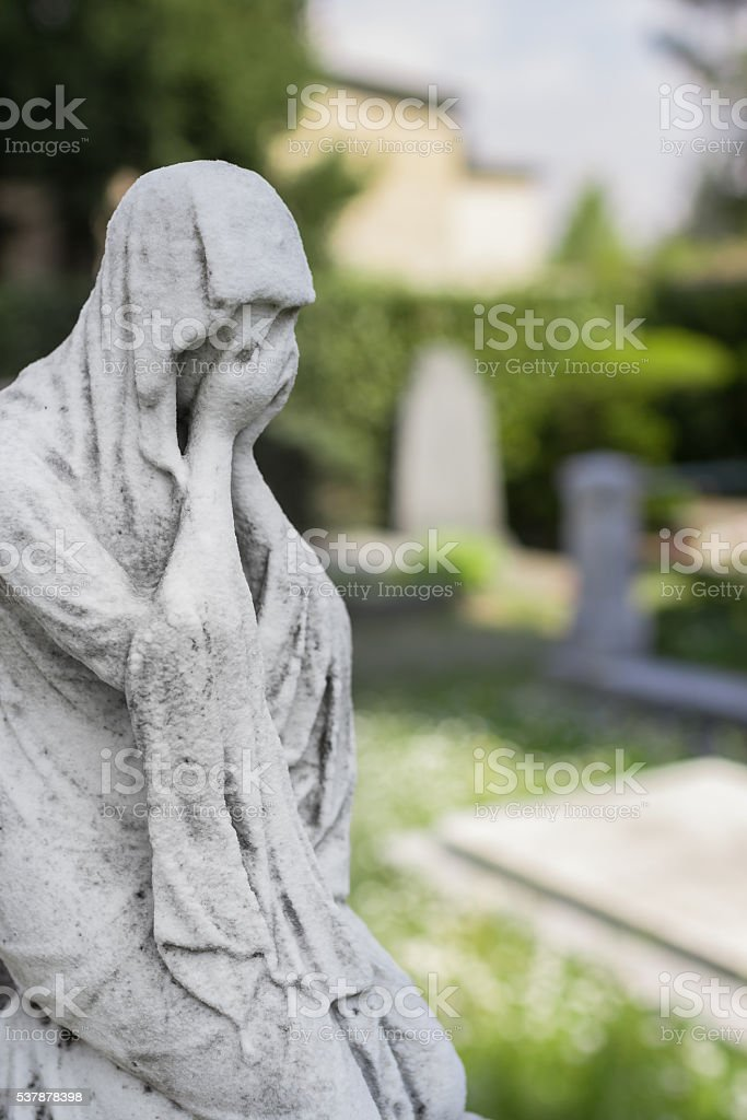 Suffering young woman stock photo