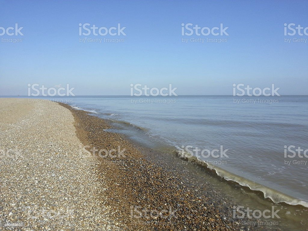 Suffolk coast stock photo