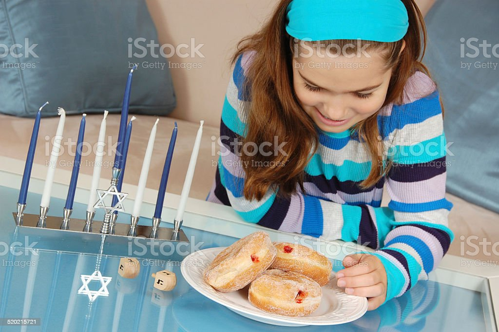 Sufganiyot for Hanukkah stock photo