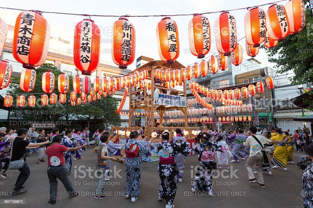 Sugamo Bon Odori Festival in Tokyo, Japan stock photo