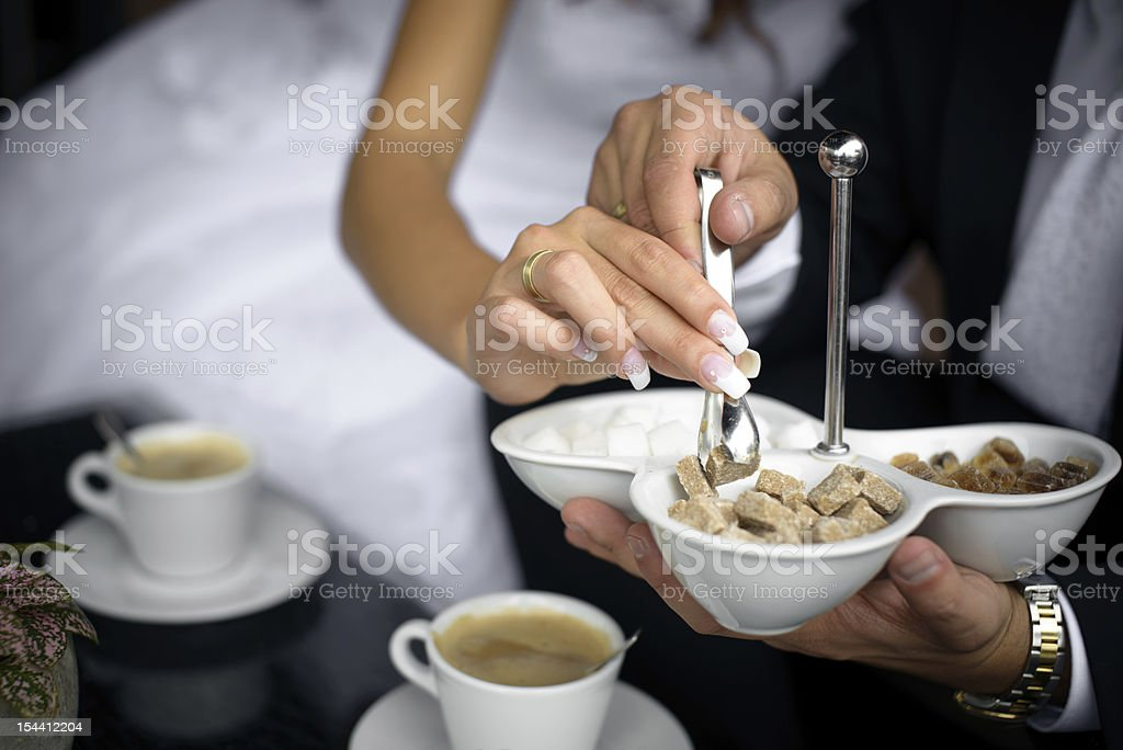 Sugar and Cofee cup royalty-free stock photo
