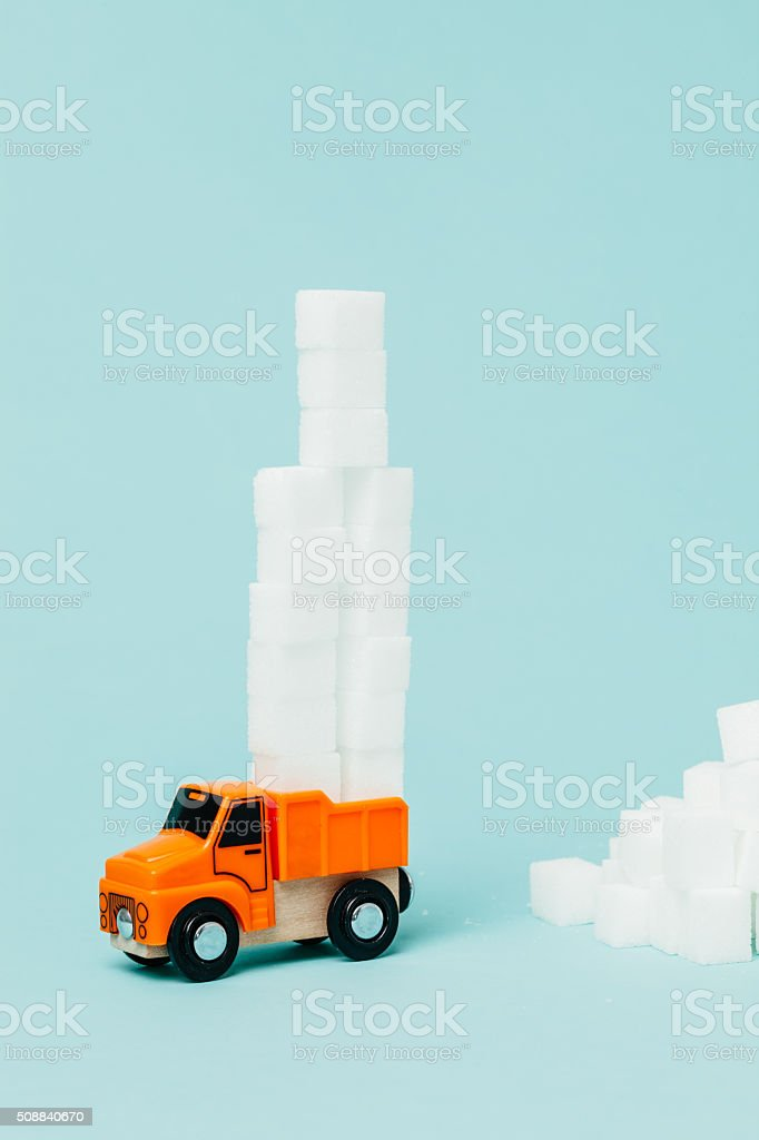 Sugar and food industry stock photo
