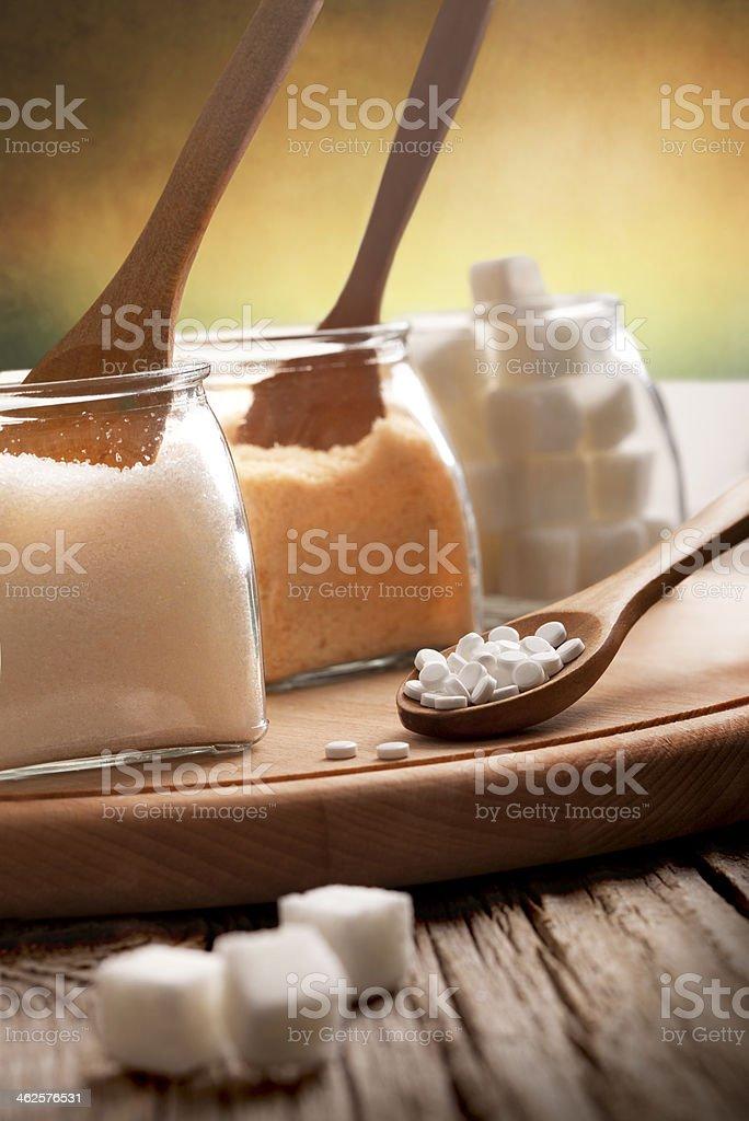 Sugar and spoon royalty-free stock photo