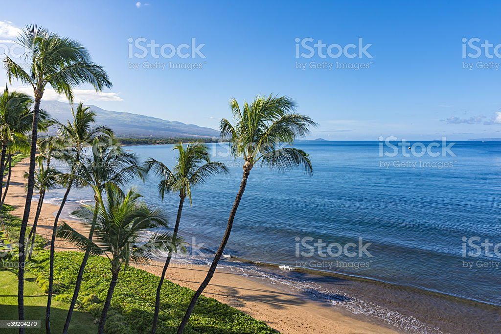 Sugar Beach Kihei Maui Hawaii USA stock photo