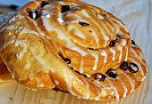 Sugar Bun with raisins