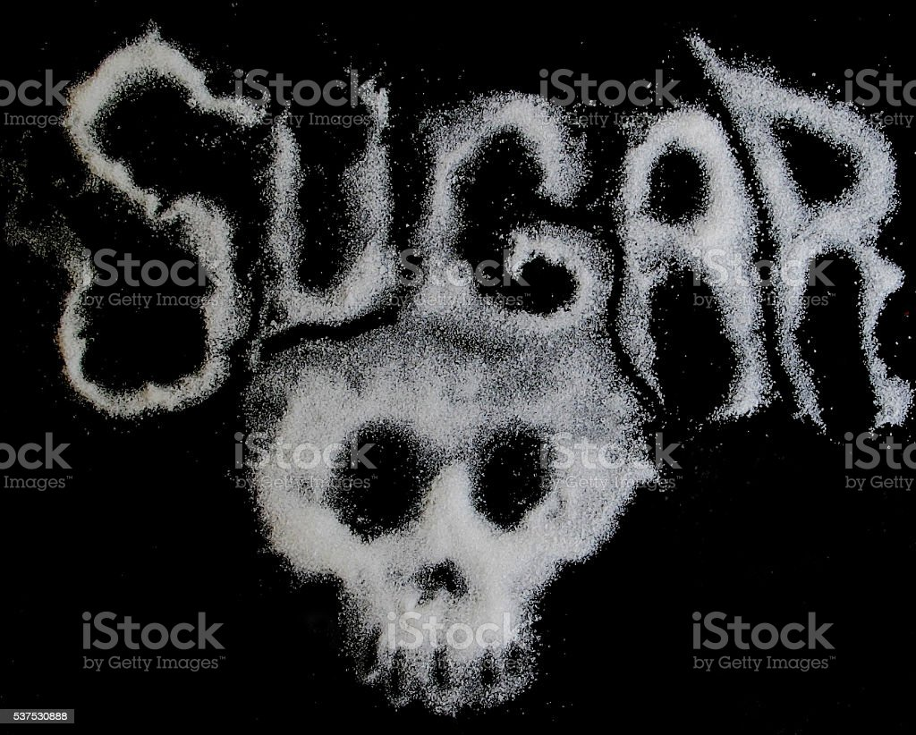Sugar can be Dangerous: Negative Sugar Health Concept stock photo