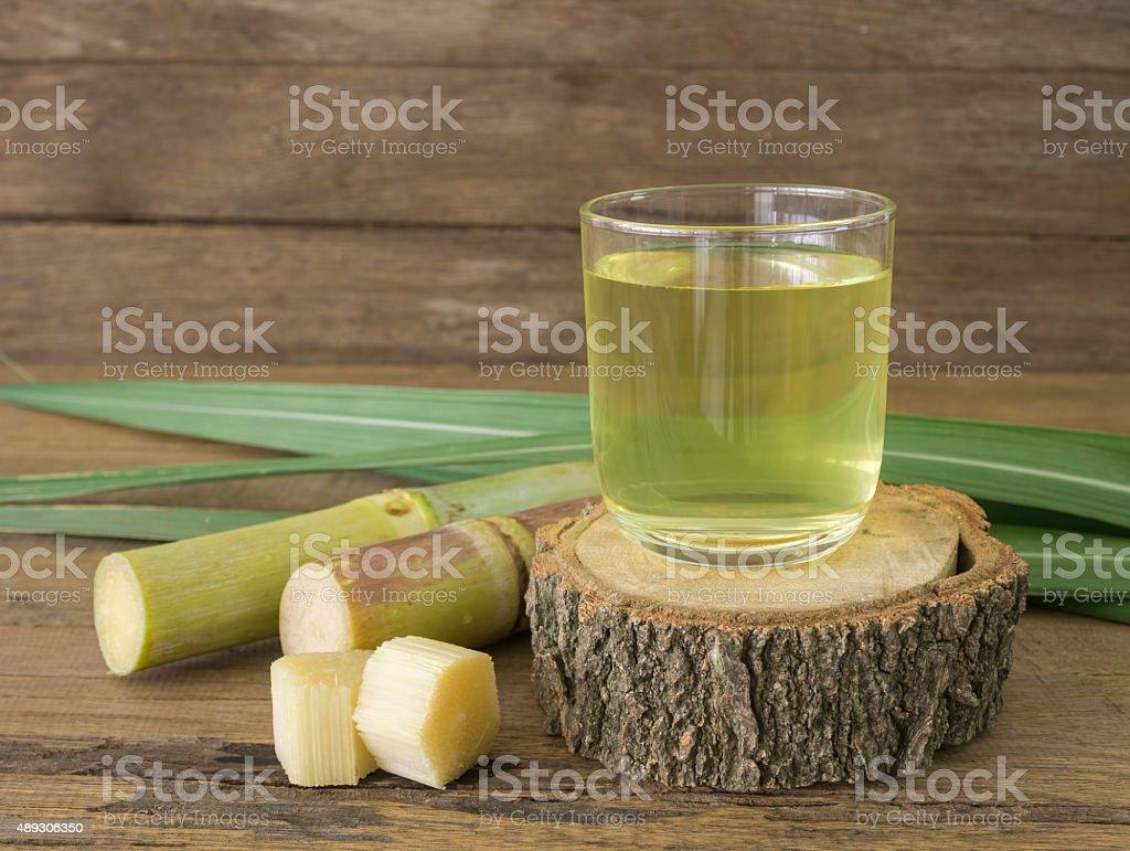 sugar cane juice stock photo
