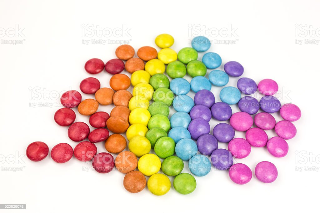 sugar coated candies stock photo