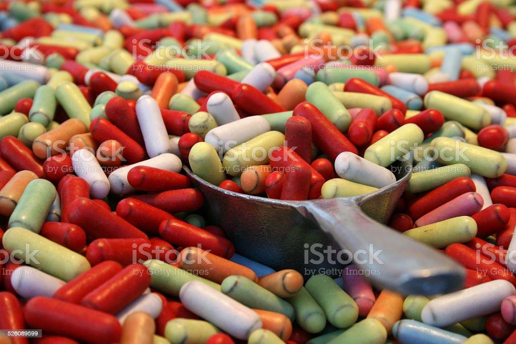 Sugar Coated Licorice Candy stock photo