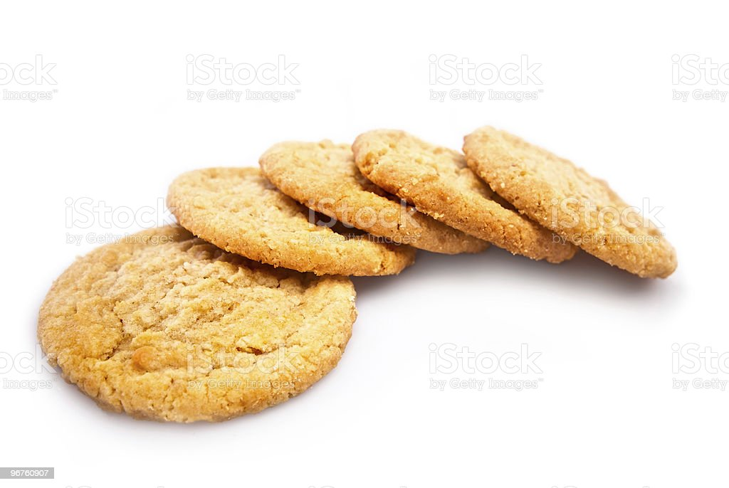 Sugar Cookes Isolated on White Background stock photo